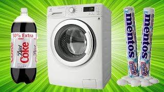 Kola + Mentos Deneyini Çamaşır Makinesinde Yaptık