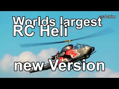 Worlds largest RC Heli - New!!! Version RED BULL Cobra (11kW power turbine! Josef Schmirl)