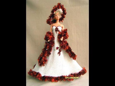 Вязание крючком платья для куклы видео