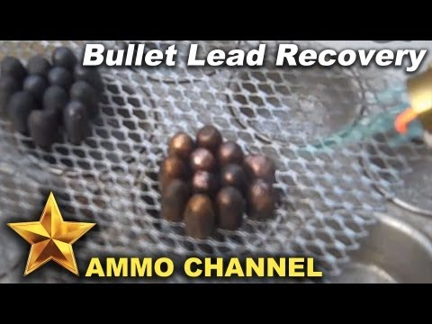 Melting jacketed bullets for casting and reloading ammo - bullet casting. range lead. smelting