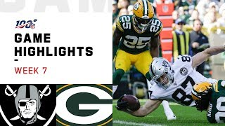 Raiders vs. Packers Week 7 Highlights | NFL 2019
