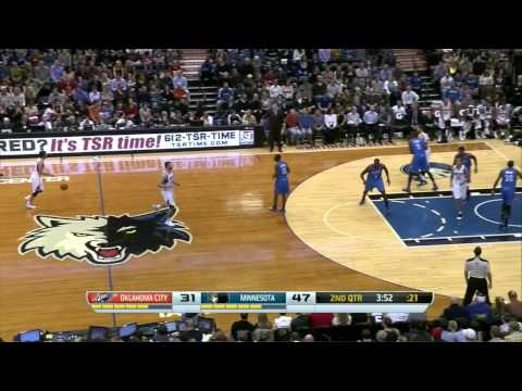 2013.11.1 NBA Minnesota Timberwolves vs Oklahoma City Thunder Ricky Rubio highlights