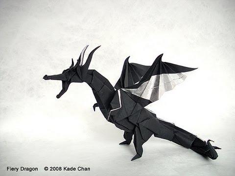 How to fold Origami Fiery Dragon 摺紙噴火飛龍教學 (Kade Chan)