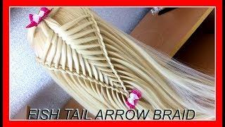 FISH TAIL ARROW BRAID HAIRSTYLE / HairGlamour Styles /  Hair Tutorials