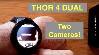 "ZEBLAZE THOR 4 DUAL (Two Cameras) 4G Android 7.1.1 ""Always Time"" Smartwatch: Unboxing and 1st Look"