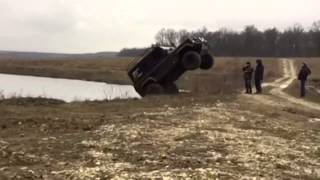 Jump of Land Rover Defender
