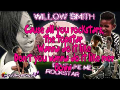 Willow Smith - Do it like I do (Rockstar) Sing along with Willow Only Lyrics HD