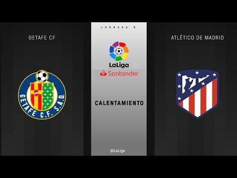 Calentamiento Getafe CF vs Atlético de Madrid