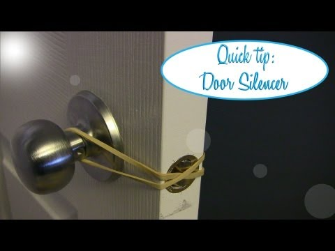 Quick Tip: Easy Door Silencer