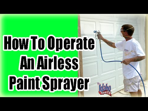Using An Airless Paint Sprayer. Paint Sprayer Instructions.  How to use a Titan Sprayer.