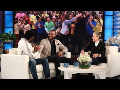 Chadwick Boseman and Ellen Surprise 'Black Panther' Fundraiser Frederick Joseph