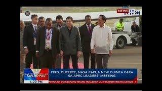 Pres. Duterte, nasa Papua New Guinea para sa APEC leaders' meeting