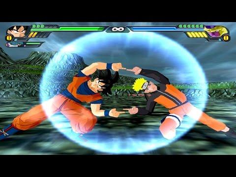 AS FUSÕES MAIS BIZARRAS DE DRAGON BALL Z BUDOKAI TENKAICHI 3 (Fusão Do Naruto Com o Goku)