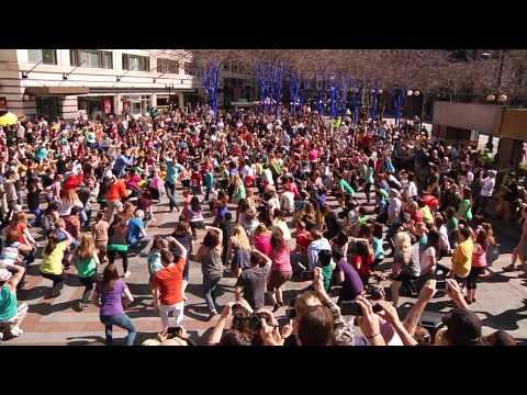 Glee Flash Mob & Marriage Proposal (Seattle - 2012)