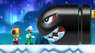 New Super Luigi U Co-op Walkthrough - World 4 Frosted Glacier