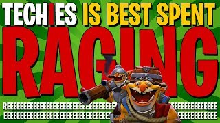 Playing Techies Is Best Spent RAGING - DotA 2 Patch 7.21C