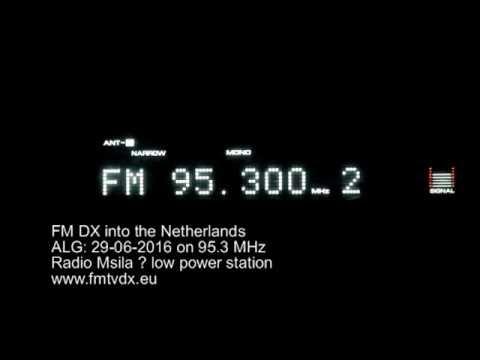 FM DX sporadic E in Holland: ALG  95 3 MHz Radio Msila
