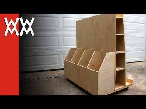 Mobile Wood Storage Cart