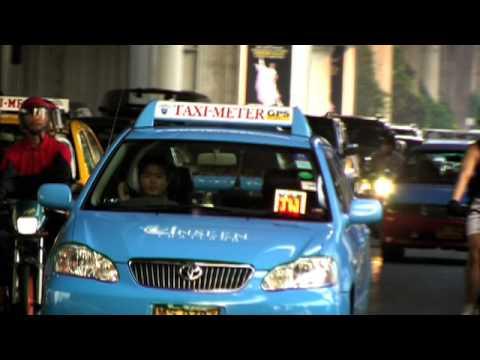 Bangkok Transport, Bus, Train, Taxi, Car  www.TravelGuide.TV