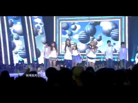 110724  Hd   After School Red & Blue   In The Night Sky   Wonder Boy  Inkigayo Comeback Stage    Youtube video