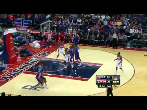 Detroit Pistons vs. Washington Wizards Full Highlights 22 December 2012