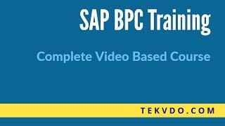 SAP BPC Training - Complete video based SAP BPC Training