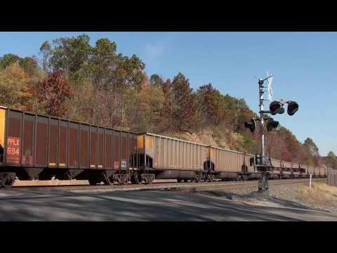 Mini-Chase of NS 537 with ex Conrail SD60I units at Rose and the Brickyard