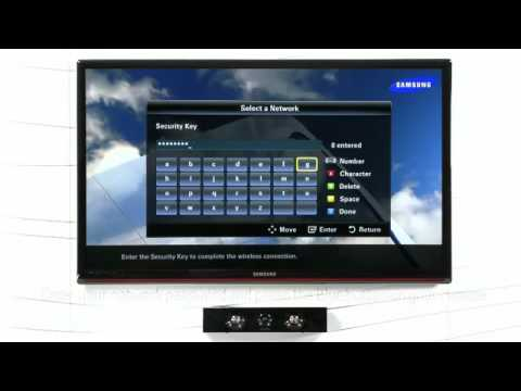 how to connect a samsung tv to a wired or wireless network