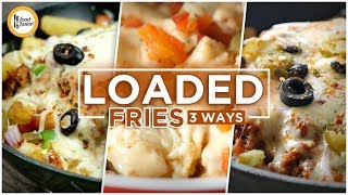 Loaded Fries 3 ways. Recipe By Food Fusion (Ramzan Special)
