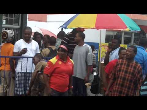 Two Man fighting  in jamaica montego bay 2014