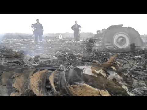 Debris Field Malaysian of Airlines Plane Shot Down Crash Site 17-7-14