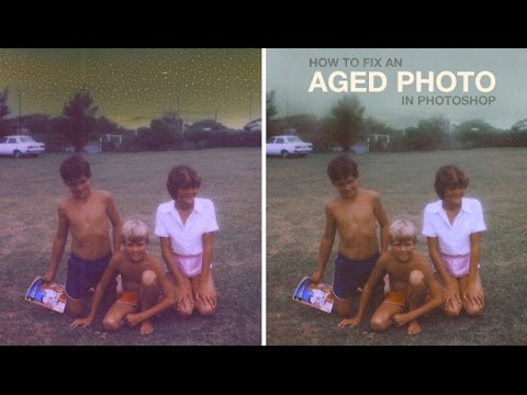 How to Fix an Aged Photo in Photoshop
