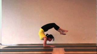Purna Chakrasana flipping up to Vrischikasana