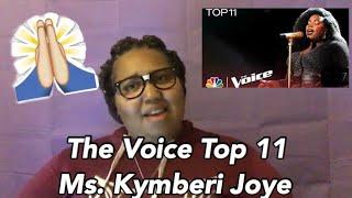 The Voice Lives Top 11 | Kymberli Joye takes me to Church!! | Reaction