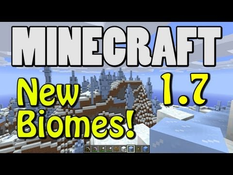 Minecraft 1.7 Snapshot New Biomes MESA ICE SPIKES SAVANNA SUNFLOWER MORE