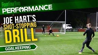 Joe Hart's shot-stopping drill | Pro level goalkeeper training drill