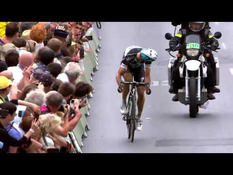 Tony Martin Stage 4 Finish  -- Incredible Ending!  (Seraing  Cambrai) - Tour de France 2015