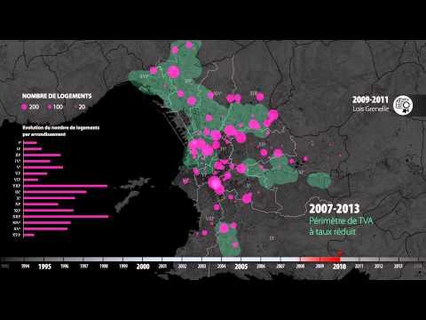 La dynamique immobilière à Marseille - évolution de la construction de logements entre 1993 et 2013