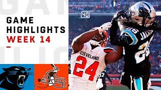 Panthers vs. Browns Week 14 Highlights | NFL 2018