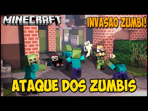 Minecraft: ATAQUE DOS ZUMBIS - WAVES (MINIGAME)