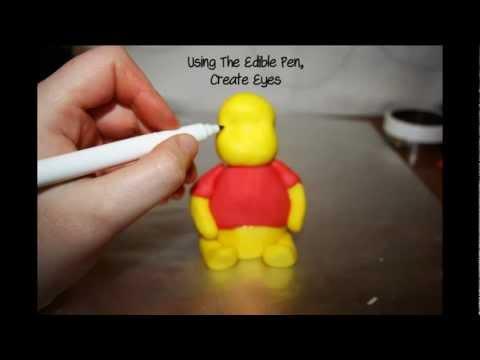 How To Make A Fondant Winnie The Pooh YouTube