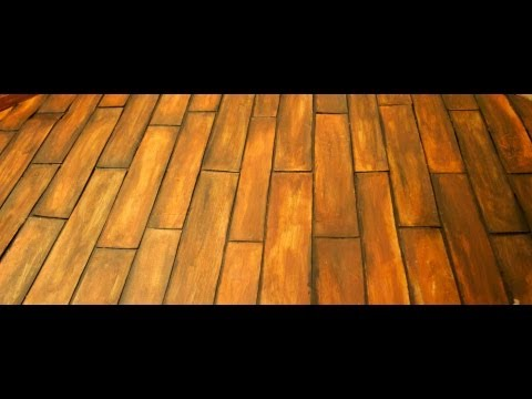 make dollhouse wood floors
