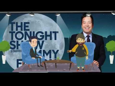 Zach Galifianakis On Tonight Show w/Jimmy Fallon Talks Obama , Illuminati , Aliens , Zombies & More