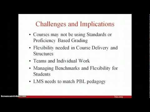 PBL Online Webinar Part 3 of 3