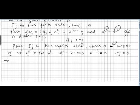 Group Theory 14, Cyclic Groups