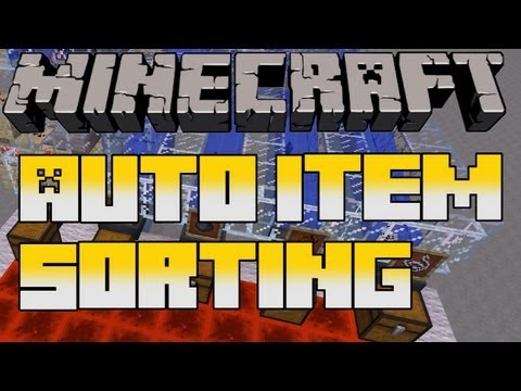Minecraft Update 1.5 Preview: Fully Automated Hopper Item Sorting System
