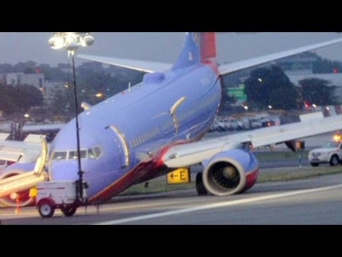 NTSB: Southwest jet landed nose first at LaGuardia