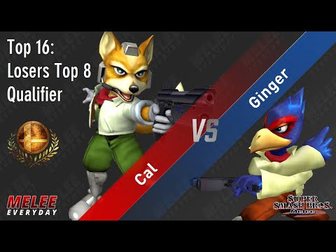 Aegis - Cal (Fox) Vs. Ginger (Falco) - SSBM - Top 16 - Losers Top 8 Qualifier