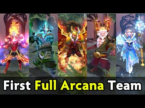 First full Arcana team on proscene — OG vs IG fastest GG of DAC