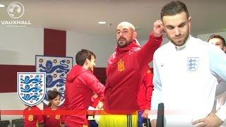 Reina & Henderson Reunite - England v Spain (Tunnel Cam) 2016 Friendly | Inside Access